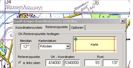 Koordinaten Karte.Karte Mit Gauss Krueger Koordinaten Georeferenzieren
